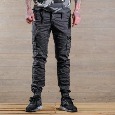 Ανδρικό γκρι παντελόνι cargo Blackzi tr170320-1 3