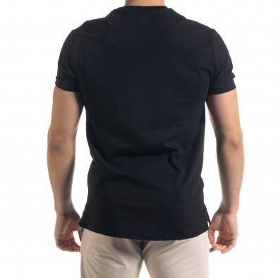Ανδρική μαύρη κοντομάνικη μπλούζα Vae Victis tr110320-77 3