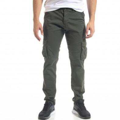 Ανδρικό πράσινο παντελόνι cargo Blackzi tr201120-3 3