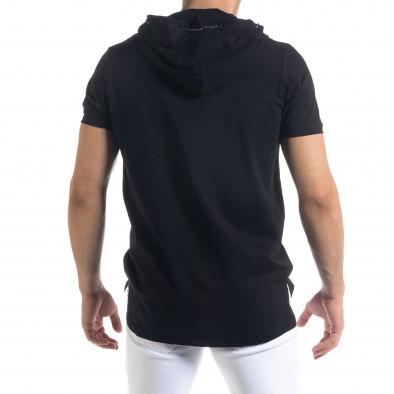 Ανδρική μαύρη κοντομάνικη μπλούζα RNT23 tr110320-62 3