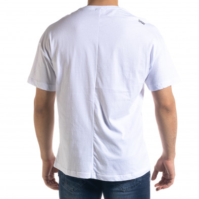 Ανδρική λευκή κοντομάνικη μπλούζα SAW tr110320-3 3