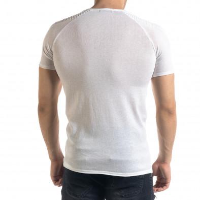 Ανδρική λευκή κοντομάνικη μπλούζα Lagos tr110320-20 3