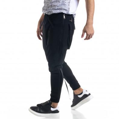 Ανδρικό μαύρο παντελόνι Open tr110320-126 3