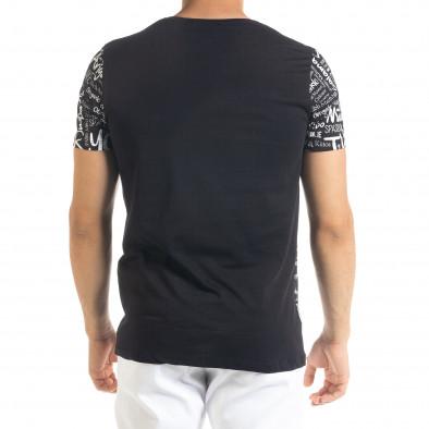 Ανδρική μαύρη κοντομάνικη μπλούζα Lagos tr080520-33 3