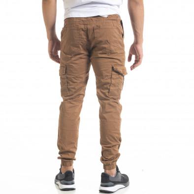 Ανδρικό παντελόνι Cargo Jogger σε χρώμα camel  tr240420-33 4