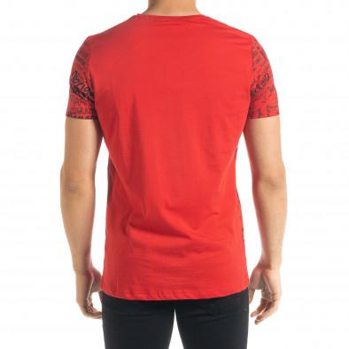 Ανδρική κόκκινη κοντομάνικη μπλούζα Lagos tr080520-34 3