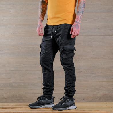 Ανδρικό μαύρο παντελόνι cargo Blackzi tr170320-5 3