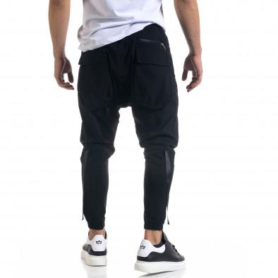 Ανδρικό μαύρο παντελόνι Open tr110320-126 4