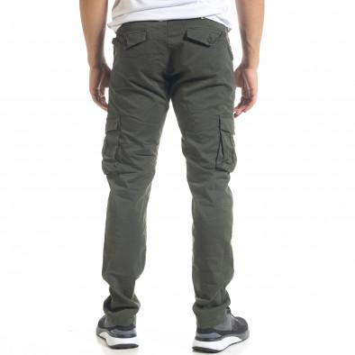 Ανδρικό πράσινο παντελόνι cargo Blackzi tr201120-3 4