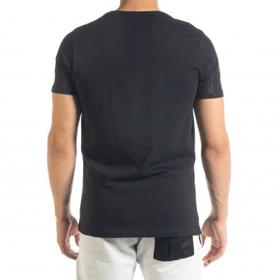 Ανδρική μαύρη κοντομάνικη μπλούζα Lagos tr080520-18 3