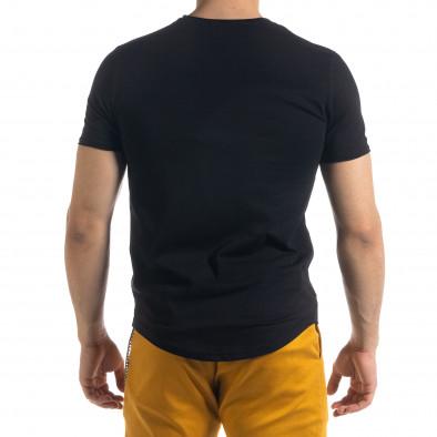 Ανδρική μαύρη κοντομάνικη μπλούζα Clang tr110320-67 3