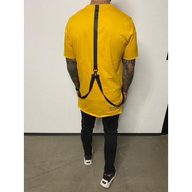 Ανδρική κίτρινη κοντομάνικη μπλούζα Black Island tr110320-82 3