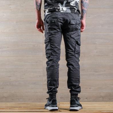 Ανδρικό γκρι παντελόνι cargo Blackzi tr170320-1 4