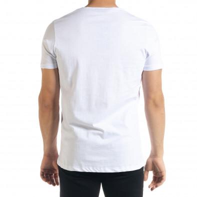 Ανδρική λευκή κοντομάνικη μπλούζα Lagos tr080520-21 3