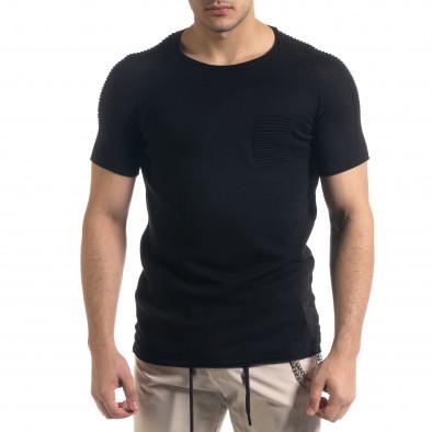 Ανδρική μαύρη κοντομάνικη μπλούζα Lagos tr110320-19 2