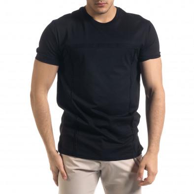 Ανδρική μαύρη κοντομάνικη μπλούζα Vae Victis tr110320-77 2