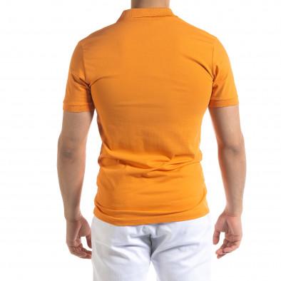 Ανδρική πορτοκαλιά πολο Lagos tr110320-15 3