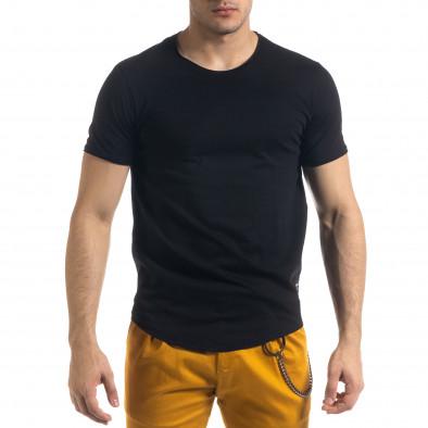 Ανδρική μαύρη κοντομάνικη μπλούζα Clang tr110320-67 2