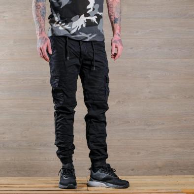 Ανδρικό μαύρο παντελόνι cargo Blackzi tr170320-2 2