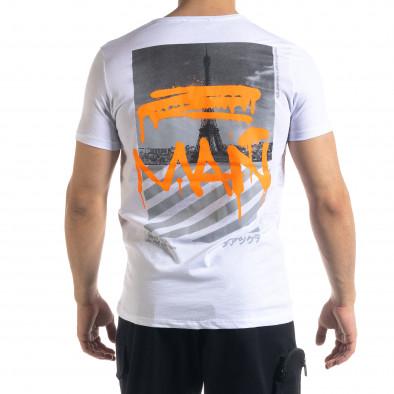 Ανδρική λευκή κοντομάνικη μπλούζα Lagos tr110320-30 3