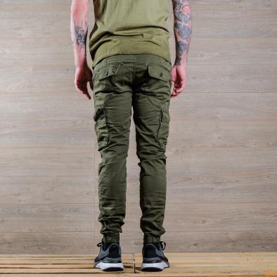 Ανδρικό πράσινο παντελόνι cargo Blackzi tr170320-3 4