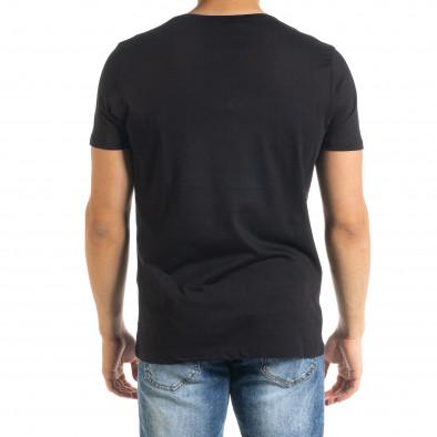 Ανδρική μαύρη κοντομάνικη μπλούζα Panda tr080520-22 3