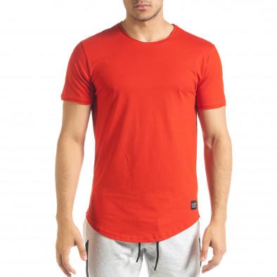 Ανδρική κόκκινη κοντομάνικη μπλούζα Clang tr080520-39 2