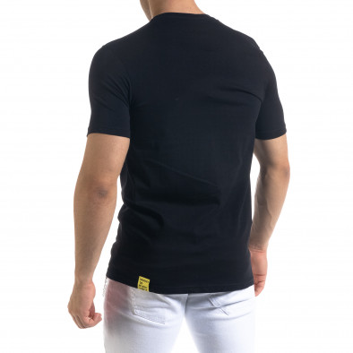 Ανδρική μαύρη κοντομάνικη μπλούζα Breezy tr110320-42 3