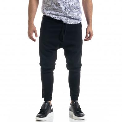 Ανδρικό μαύρο παντελόνι Open tr110320-126 2