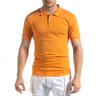 Ανδρική πορτοκαλιά πολο Lagos tr110320-15 2