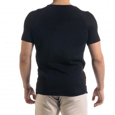 Ανδρική μαύρη κοντομάνικη μπλούζα Lagos tr110320-19 3