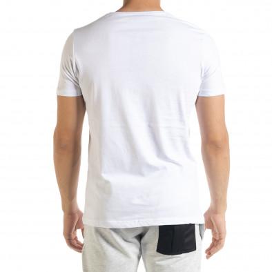 Ανδρική λευκή κοντομάνικη μπλούζα Panda tr080520-23 3
