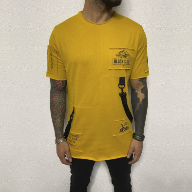 Ανδρική κίτρινη κοντομάνικη μπλούζα Black Island tr110320-82 2