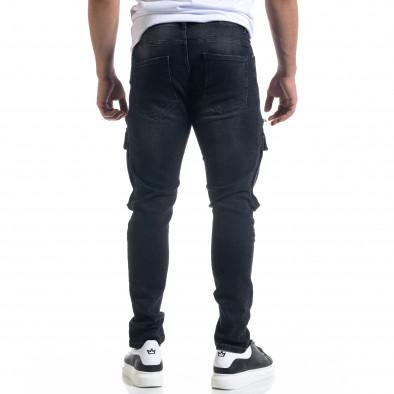 Slim fit αντρικό μαύρo τζιν με τσέπες tr110320-114 3