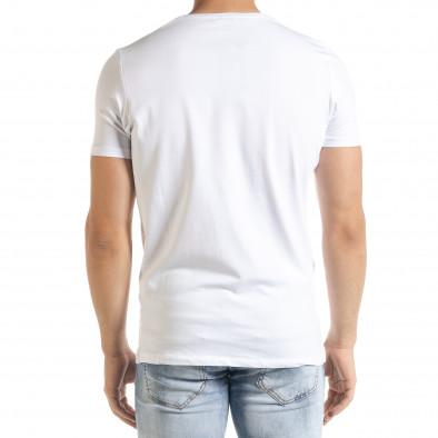 Ανδρική λευκή κοντομάνικη μπλούζα Lagos tr080520-17 3