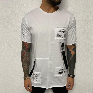 Ανδρική λευκή κοντομάνικη μπλούζα Black Island tr110320-83 2