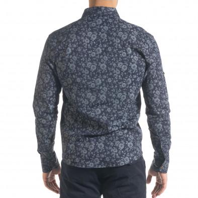 Ανδρικό γαλάζιο πουκάμισο Flyboys tr240420-36 3