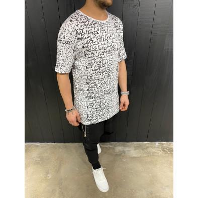 Ανδρική λευκή κοντομάνικη μπλούζα Black Island tr110320-88 3