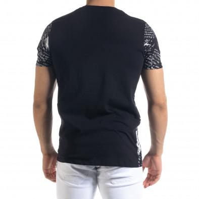 Ανδρική μαύρη κοντομάνικη μπλούζα Lagos tr110320-29 3