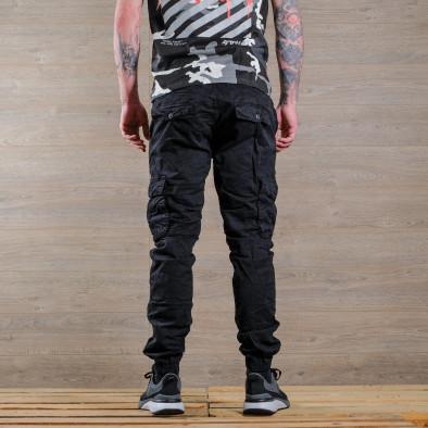 Ανδρικό μαύρο παντελόνι cargo Blackzi tr170320-2 4