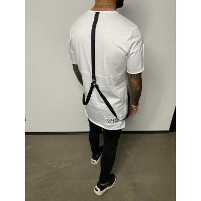 Ανδρική λευκή κοντομάνικη μπλούζα Black Island tr110320-83 3