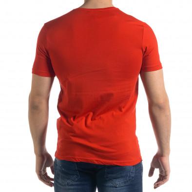 Ανδρική κόκκινη κοντομάνικη μπλούζα Breezy tr110320-52 3