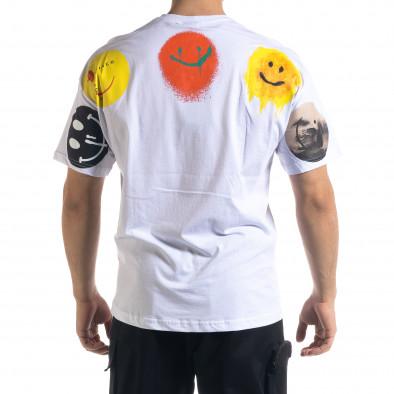 Ανδρική λευκή κοντομάνικη μπλούζα SAW tr110320-6 3