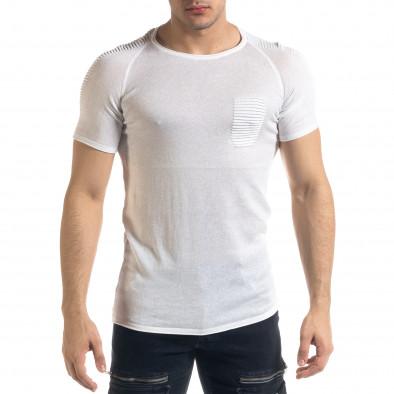 Ανδρική λευκή κοντομάνικη μπλούζα Lagos tr110320-20 2