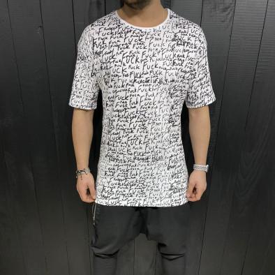 Ανδρική λευκή κοντομάνικη μπλούζα Black Island tr110320-88 2