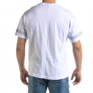 Ανδρική λευκή κοντομάνικη μπλούζα SAW tr110320-13 3