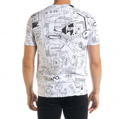 Ανδρική λευκή κοντομάνικη μπλούζα Breezy tr080520-14 3