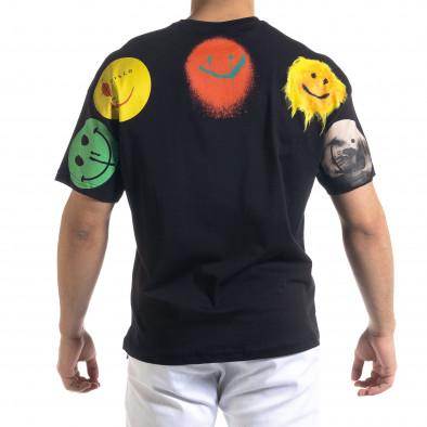 Ανδρική μαύρη κοντομάνικη μπλούζα SAW tr110320-5 3
