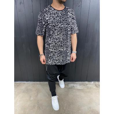 Ανδρική μαύρη κοντομάνικη μπλούζα Black Island tr110320-87 3