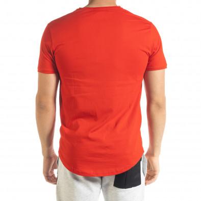 Ανδρική κόκκινη κοντομάνικη μπλούζα Clang tr080520-39 3